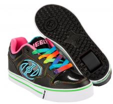 Heelys Motion Plus Black/Hot Pink/Rainbow